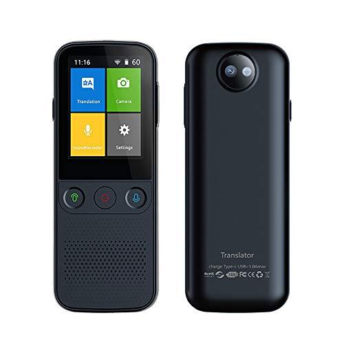 Language Translator Device,138 Languages Smart WiFi/Hotspot/Offline Instant Portable Instant Voice Translator Portable Instant Voice Translator (Black)