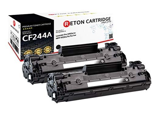 2 originele Reton toner | 1.500 pagina's volgens ISO-19752 | compatibel met HP CF244A, 44A voor HP Laserjet Pro M15a, Pro M15w, Pro M28a, Pro M28w