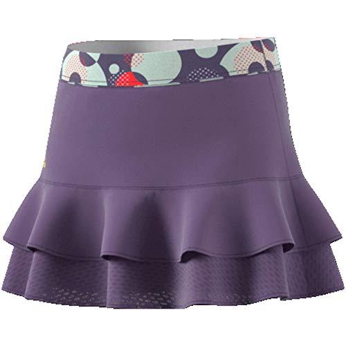 adidas G Frill Skirt Gonna Sportiva, Bambina, Tech Purple/Shock Yellow, 1314Y