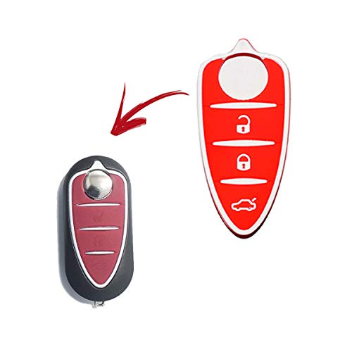 Lage - Botones de repuesto de silicona para llave de Alfa Romeo...