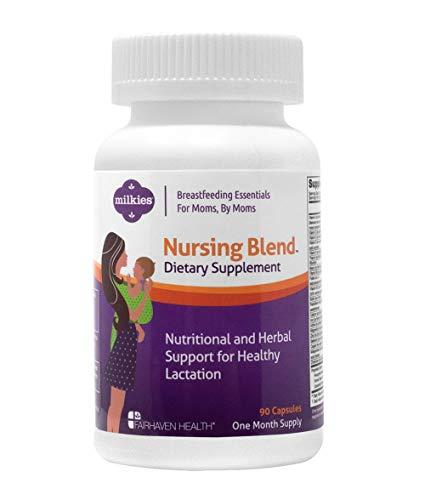 Milkies Nursing Blend, Postnatal Vitamin Plus Fenugreek and Other Herbs, Lactation Supplement for Increased Breast Milk