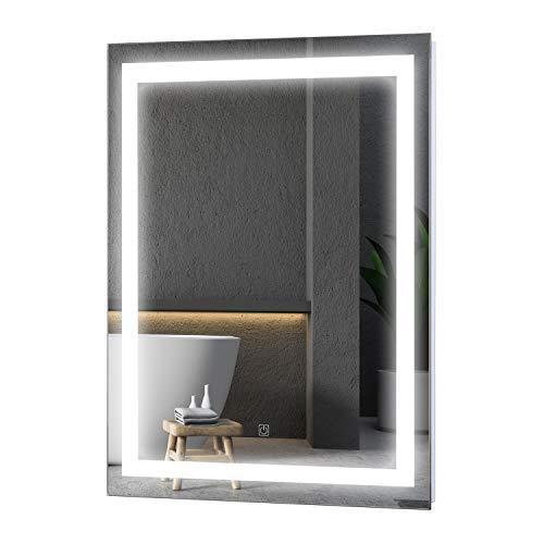 HOMCOM LED Wall Mount Bathroom Vanity Make Up Mirror w/Defogger - 36