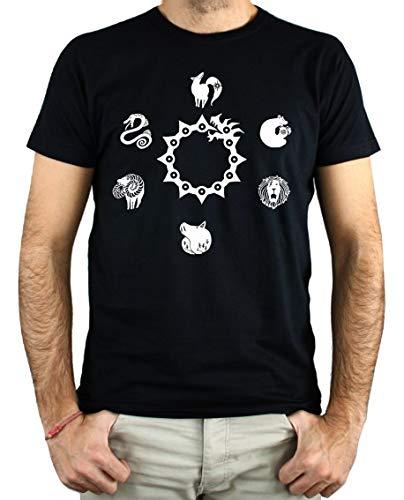 PLANETACAMISETA Camiseta Hombre - Unisex Seven Sins