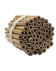 Super Idea, 50 sztuk rurek bambusowych o długości 10 cm, do samodzielnego budowania, majsterkowanie wielokrotnego użytku, do domku dla owadów, domek dla dzikich pszczół, domek dla pszczół, hotel dla pszczół