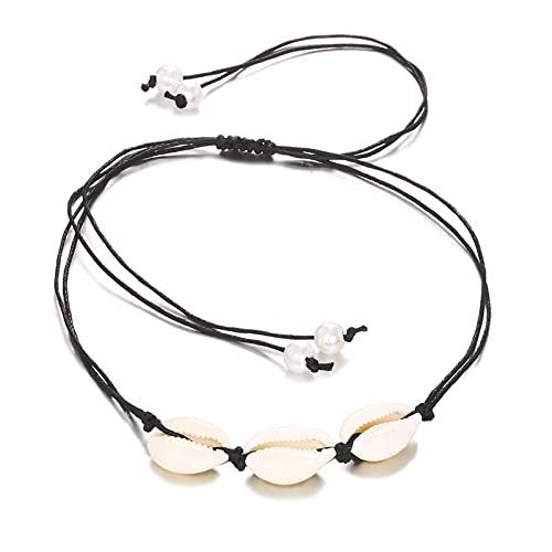 XinLuMing Collar de Cadena de la Cadena de la Cadena de la Cadena de la Cadena de la Cadena de la Cadena de la Cadena de Verano Simple (Color : White)