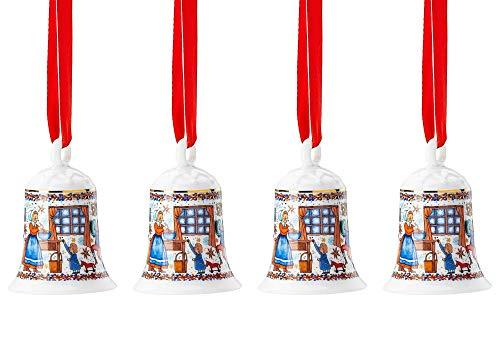 Hutschenreuther 4 x Porzellanglocke Weihnachtsglocke 2020 Weihnachtsbäckerei - 02250-722825-27920 - -