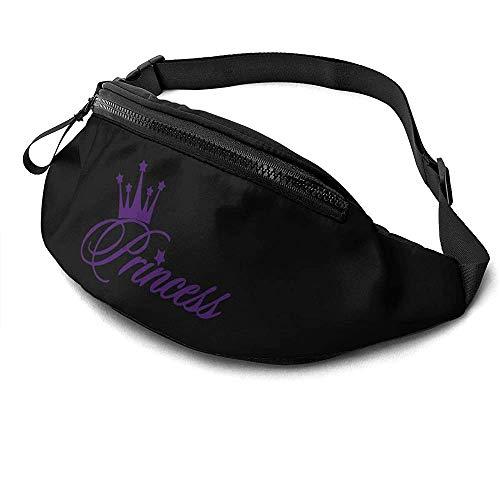 NA Princesse Crown Runner's Fanny Bag Waist Pack Réglable Sangles Poche avec Prise Casque pour Unisexe