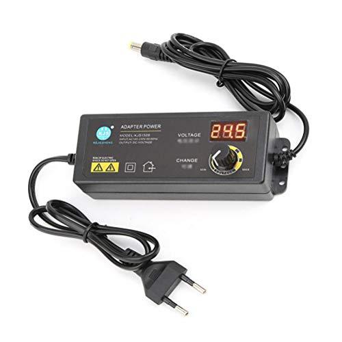 Conpush Einstellbarer Netzadapter,60W 3V-24V Spannung Auslegung, Schalt Netzteil Trafo für LCD Monitore/TV/Motoren/DVD Player usw,mit Drehknopf/LED Digitalanzeige