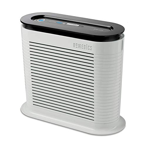 HoMedics True HEPA Air Purifier - Eliminates 99.97 Percent of Allergens, Germs, Bacteria, Viruses, Relief From Allergies/Asthma, Keeps Air Fresh, British Allergy Foundation Approved, Night Operation