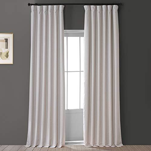 HPD HALF PRICE DRAPES FLCH-FMBO20106-84 Signature Faux Linen Blackout Curtain (1 Panel), 50 X 84, Caravan Beige
