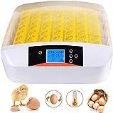 Incubadora digital 56 huevos inteligente totalmente automática Incubadora motorizada con pantalla de temperatura y control de humedad, incubadora de huevos gallina (56 huevos)
