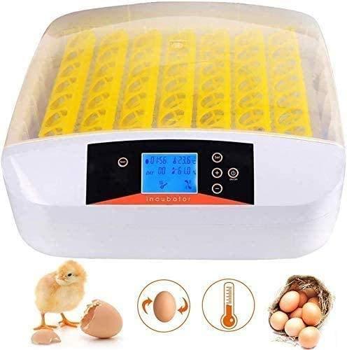 32/48/56 Eier Inkubator Vollautomatische Intelligentes Digital Brutmaschine Brutkasten Motorbrüter mit Temperaturanzeige und Feuchtigkeitsregulierung, Hühner Eier Brutgerät Brutapparat