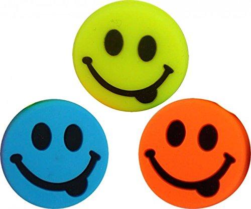 Pro 's Pro Amortiguador de vibraciones–Funny Face húmedo–Pack de 3 HAPPY