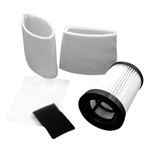 vhbw Set Hepa Filtro aspirador para aspiradoras Dirt Devil Centec, Centric, M2827, M2827-1, M2827-2, M2828, M2828-0, M2828-1, M2828-2, M2828-3
