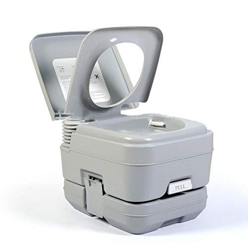 Pologyase - Vasino portatile da viaggio, con serbatoio per rifiuti da 5,3 galloni, beccuccio integrato e nebulizzatore per camper, barca, campeggio