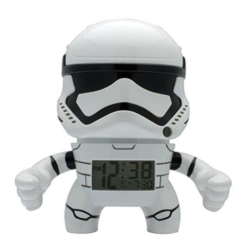 BulbBotz Star Wars Sturmtruppler Kinder-Wecker mit Hintergrundbeleuchtung| weiß/schwarz| Kunststoff| 19 cm hoch| LCD-Display| Junge/Mädchen| offiziell