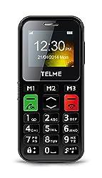 TelMe C150 Großtastenhandy (Notruf-Funktion, Bluetooth 3.0, HSP, FM Radio) schwarz