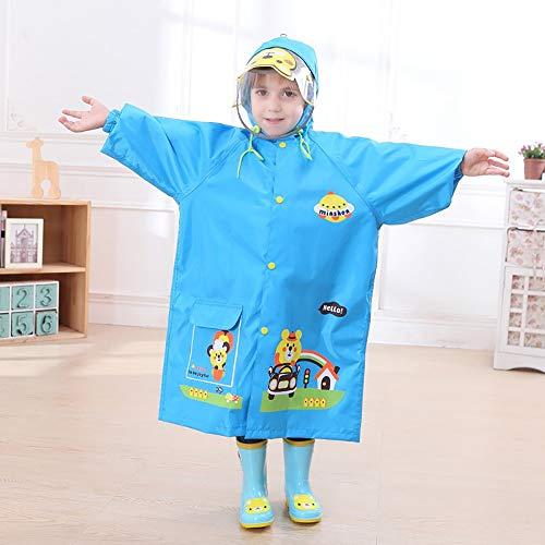 Goldenla regenjas voor volwassenen en dames buitenshuis wandelen poncho draagbaar XXL Blauw