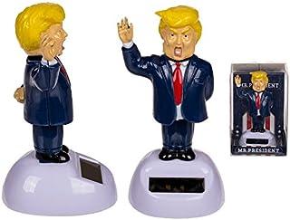 Puckator Solar Pal The President- Dancing Solar Toy - Car Desktop Office - Fun Toy - America - USA