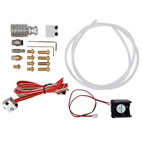 Impresora 3D V6 J-head Hotend Extruder Hotend kit con ventilador de refrigeración de 8 boquillas para PRUSA i3 MK3/MK2S/MK2.5