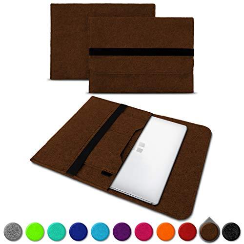 UC-Express Sleeve Hülle Trekstor Primebook P13 P14 P14B Tasche Filz Notebook Cover 14,1 Laptop Case, Farbe:Braun