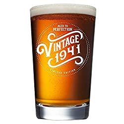 Vintage 1941 Aged to Perfection Beer Glass