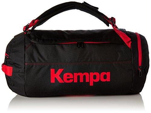 Kempa Unisex-Erwachsene Tasche Statement K Line, Schwarz/Fire Rot, 62.0 x 40.0 x 33.0 cm, 40 Liter