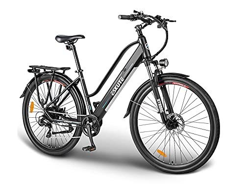 """ESKUTE Bici Elettrica Wayfarer 28"""" E-Bike Citybike Olandese Padalata Assisitita per Adulto Unisex, Batteria Rimovibile al Litio 36V 10Ah, 250W Motore, Compagno Affidabile per Vita Quotidiana"""