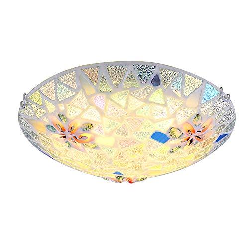 Deckenleuchte LED Modern Jungen Mädchen Dimmbar Einfache Runde Deckenlampe Schale Glas Lampenschirm Kinderzimmer Dekoration Beleuchtung Für Wohnzimmer Schlafzimmer Esszimmer Deckenlicht(Wandschalter)