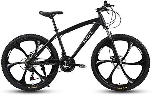 Cesto sucio Bicicleta de montaña Adultos de 24 Pulgadas de Bicicletas de montaña, Motos de Nieve Playa de Bicicletas, Bicicletas de Doble Disco de Freno, Ruedas de aleación de Aluminio
