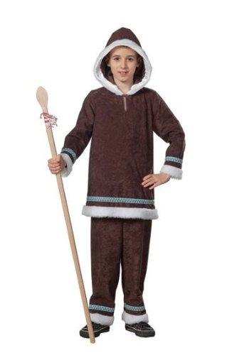 Eskimokostüm Kostüm Eskimo Junge zweiteilig Gr. 104, 116, 128, 140, 152, 164, Größe:104