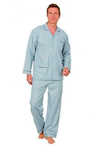 Unbekannt KHerren Finette Pyjama zum durchknöpfen in Übergrössen - 2erpack - bis Grösse 64, Farbe:Mix;Größe:64