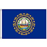 ANCONINE New Hampshire State Flag NH Flag,3x5 FT-Vivid Colors and UV Fading Resistance,Double Stitched-Polyester and Flags with Brass Grommets,Suitable for The Breeze Area.
