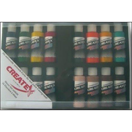 Set Peinture Créatex Transparent de 16 Couleurs 60 ml