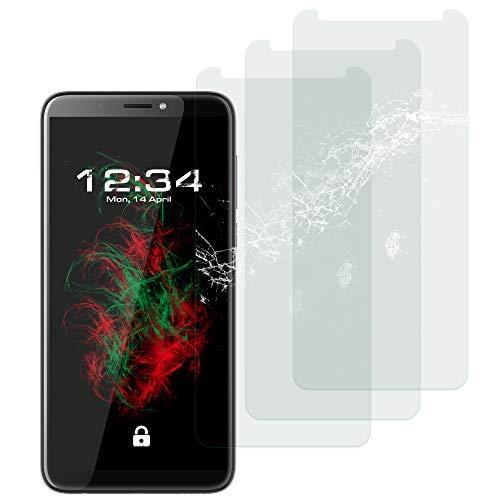 Baluum 3X Panzerglas für HTC Desire 12 Plus Klare Bildschirmschutzfolie Panzerglasfolie 9H Echt Glas-Folie Clear Tempered Glass Screen Protector Glas Durchsichtige Schutzfolie (Glasfolie-Klar 3X)