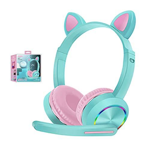 cuffie bluetooth orecchie gatto Cuffie Bluetooth con orecchie da gatto a LED con microfono