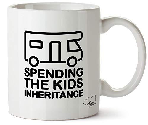 Hippowarehouse Spending The Kids Inheritance - Motorhome Printed Mug Cup Ceramic 10oz