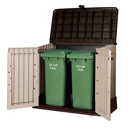 Keter 17197253 Aufbewahrungsbox Woodland, Kunststoff, Beige/Light Maroon - 2