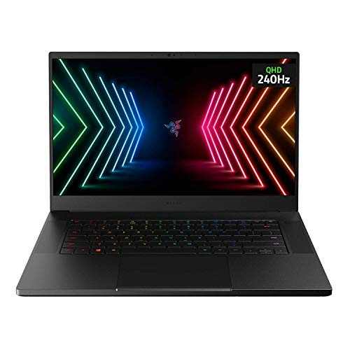 "Razer Blade 15 Advanced Gaming Laptop 2021: Intel Core i7-10875H 8-Core, NVIDIA GeForce RTX 3070, 15.6"" QHD 240Hz, 16GB RAM, 1TB SSD - CNC Aluminum - Chroma RGB - THX Spatial Audio - Thunderbolt 3"