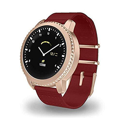 ZHENAO Mate5 Smart Watch, 1.22 Pantalla de Raqueta Pantalla Redonda Pulsera Inteligente Ip68 Carga Impermeable Usb, para Hombres Y Momen Fitness/Sports Exquisito/C