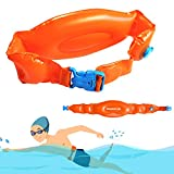Swimming Belt for Kids Children, Portable Inflatable Swimming Training Aid, Swim Belt with Safety Buckle for Swimming Beginner--Small