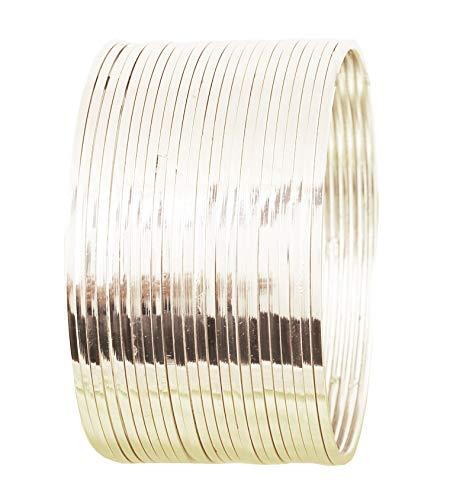 Touchstone Silber-Armband-Kollektion indische Bollywood-Wunsch Super Optik Feinschnittkanten Tango Tune Darstellung edlen Schmuck Designer-Armband-Armbänder Set von 24 in Silber Ton für Frauen.