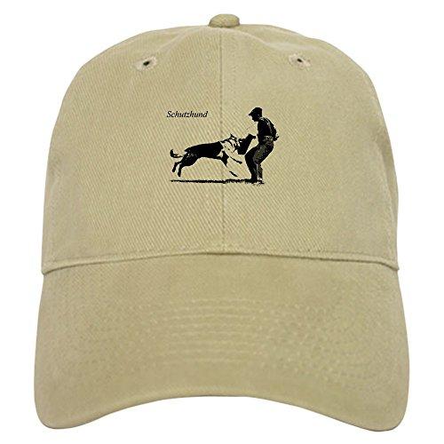 CafePress SCHUTZHUND,German Shepherd Cap Baseball Cap with Adjustable Closure, Unique Printed Baseball Hat Khaki