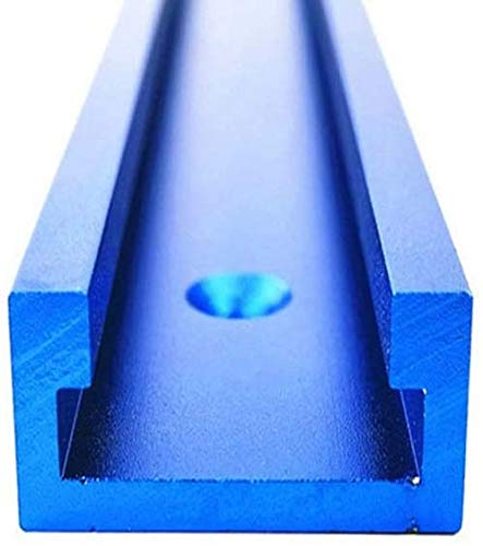 T-Track T-Slot Track, Binario a T tipo 30,Maschera per Binario a T con Scanalatura a T in Alluminio 500mm per Tavolo del Router per la Lavorazione del Legno