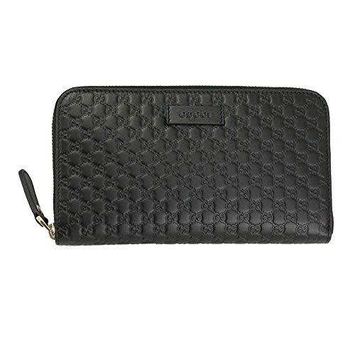 Gucci Micro Guccissima Black Leather Long Wallet 449391 Bmj1g 1000