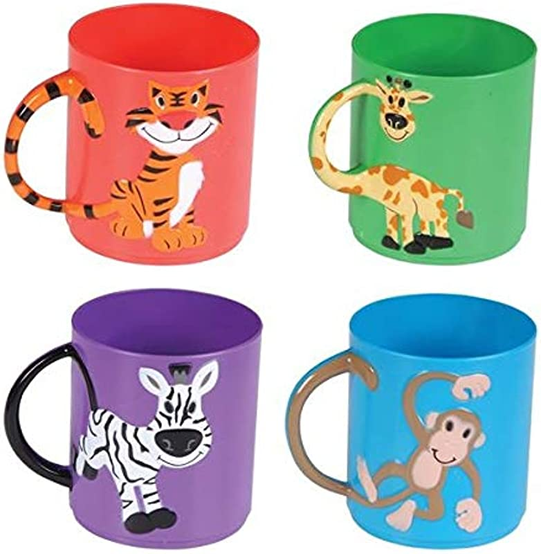 Rhode Island Novelty Animal Mugs Assorted Colors And Designs One Dozen