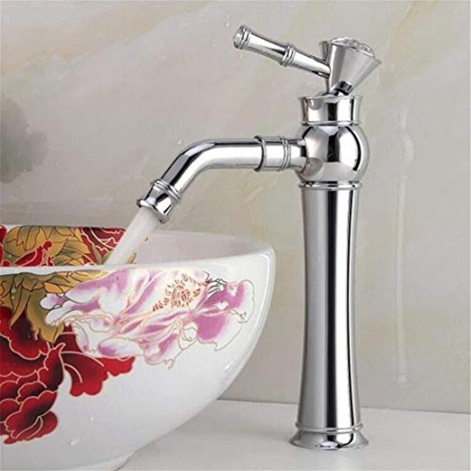 Modern High Quality Vintage Faucetmodern Chrome Plated Single Hole Washbasin Artistic Basin Hot And Cold Water Faucet
