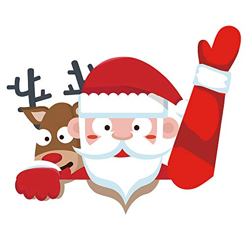 Waterdichte Herbruikbare Kerst Xmas Kerstman Rendier Auto Achterruit Voorruit Zwaaien Ruitenwissers Sticker Sticker met Klittenband