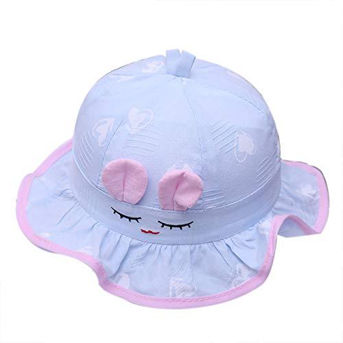 Demarkt Baby Kleinkinder Fischerhut Lächle Emoji Sonnenhüte Sommerhut Strandhut Faltbarer Kappe (Blau)