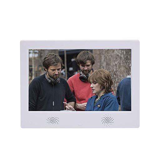 Marco de fotos digital de 10 pulgadas, compatible con máquina publicitaria de rotación automática 1080P, pantalla IPS de alta definición, control remoto, hora, vista de calendario y regalos con ranur